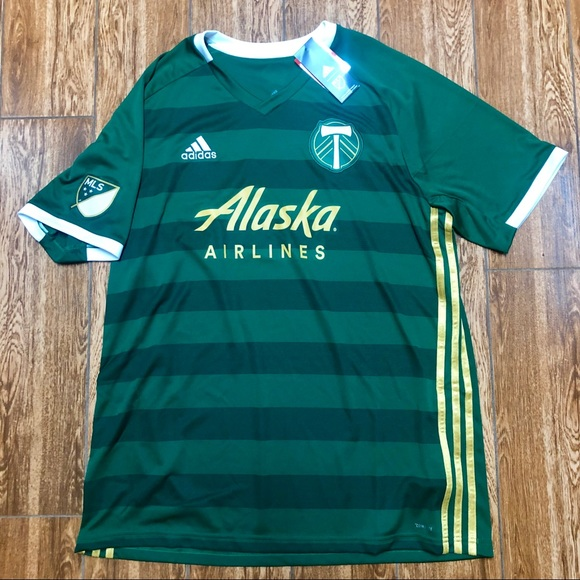 new arrival 400b4 1ad57 adidas Replica Portland Timbers Home Jersey 2019 NWT